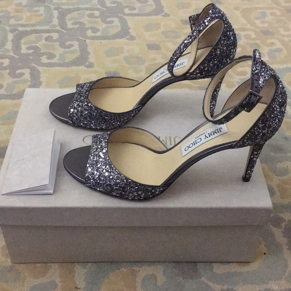 3f5763f0f00e New Jimmy Choo Annie Gunmetal Mix size 39.5